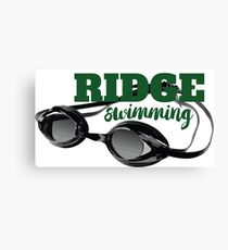 Ridge Swimming Goggles Canvas Print