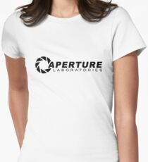 Portal 2: Aperture Science Logo Women's Fitted T-Shirt