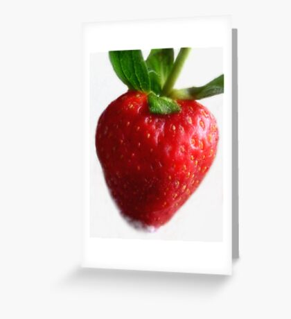 Red Ripe Strawberry Greeting Card