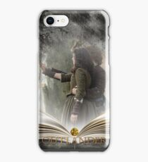 Outlander book with Jamie and Claire iPhone Case/Skin