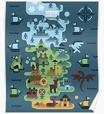 Westeros map Poster