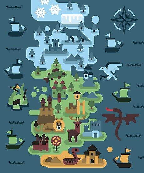 Westeros map by phellaz