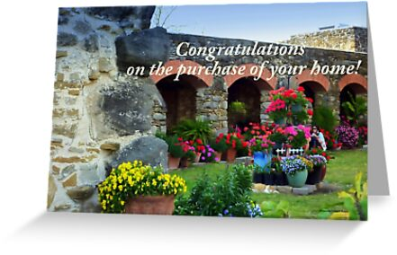 Flowers at Mission Espada by Charmiene Maxwell-Batten
