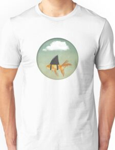 Under a Cloud, Goldfish with a Shark fin Unisex T-Shirt