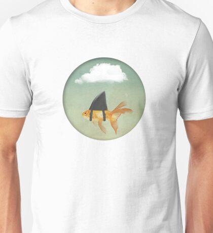 Under a Cloud, Goldfish with a Shark fin Unisex T-Shirt