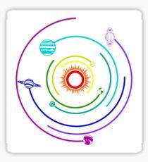 Rainbow Solar System  Sticker