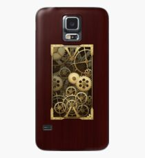 Steampunk cover wood and brass gears Case/Skin for Samsung Galaxy