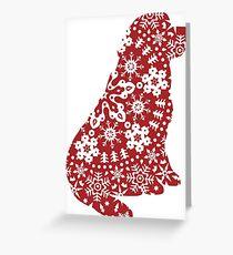 Newfoundland Christmas Snowflakes Greeting Card