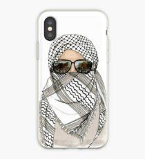 Woman in Keffiyeh iPhone Case