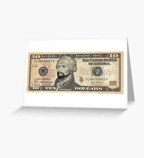 Lin-Manuel Miranda is Alexander Hamilton $10 Bill Greeting Card