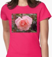 Pink Rose with Raindrops T-Shirt