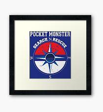 Pocket Monster Search N Rescue Pokemon Go Framed Print