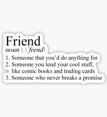 Stranger Things Friend Definition Sticker