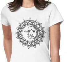 Sun and Moon Womens Fitted T-Shirt