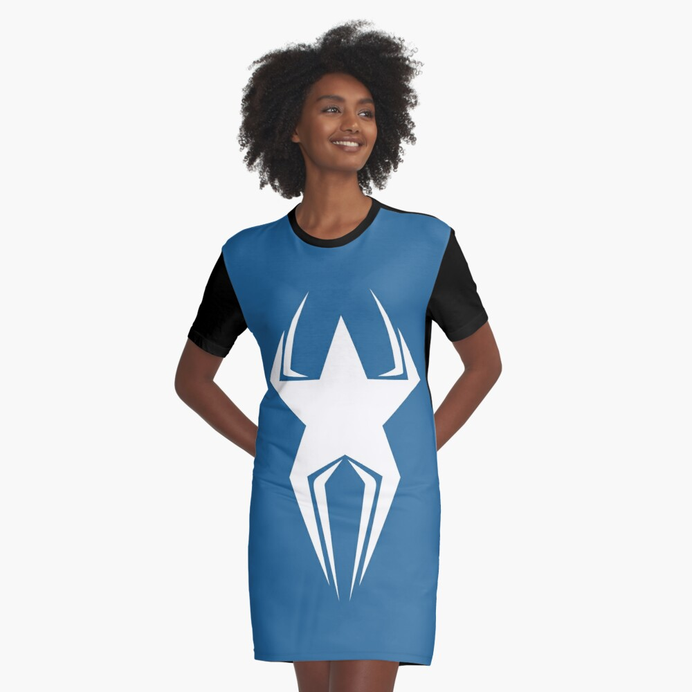 American Spider Graphic T-Shirt Dress Front