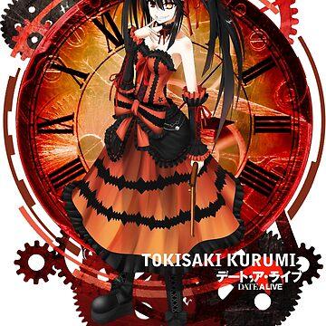 Tokisaki Kurumi Black Date-a-Live Anime T-shirt by ShoukoChan