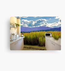 Open rural kitchen Canvas Print