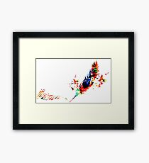 Feather Music Framed Print