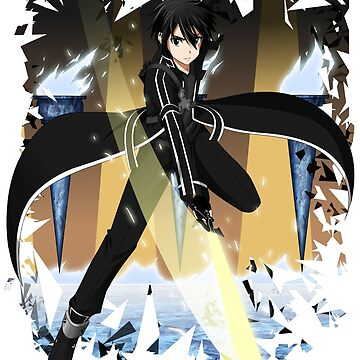 Kirito Sword Art Online SAO Anime Graphic T-sirt by ShoukoChan