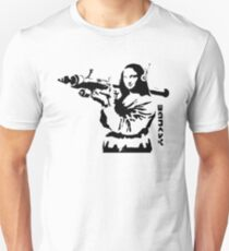 Banksy - Mona Lisa Bazooka Unisex T-Shirt