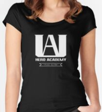 UA High Plus Ultra-Logo - (Mein Held Academia, Boku no Hero Academia, BNHA) Tailliertes Rundhals-Shirt
