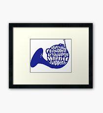 How I Met Your Mother Blue French Horn Framed Print