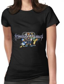 Kingdom Hearts - Sora, Donald, Goofy with logo Womens Fitted T-Shirt