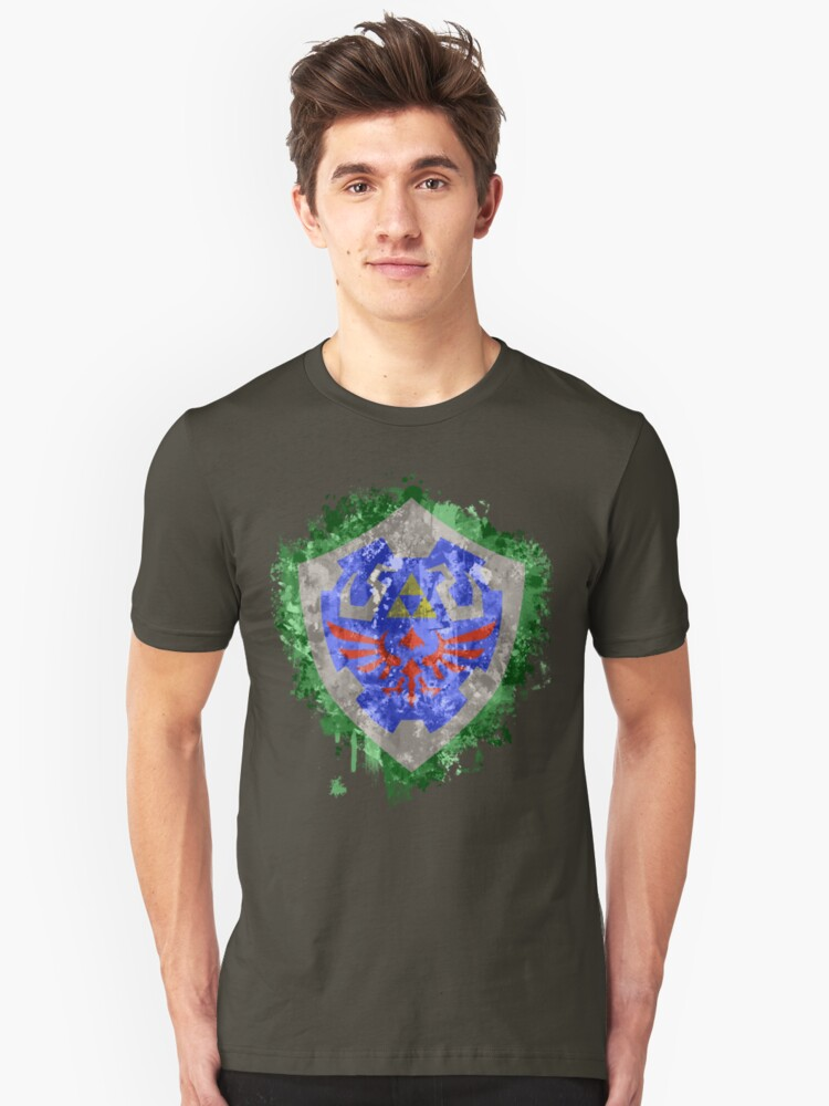 Hylian Shield Splatter Unisex T-Shirt Front