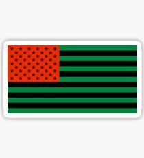 Pan-African American Flag 3 Sticker