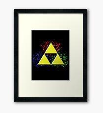 Smoky Triforce Framed Print