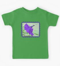 A Purple Petunia on the Porch Kids Tee