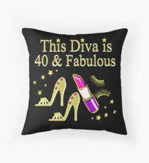 GOLD SPARKLING FABULOUS 40TH DESIGN Throw Pillow