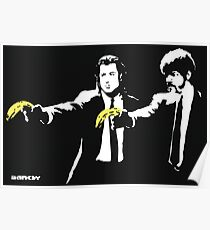 Banksy - Pulp Fiction Banana Guns Poster