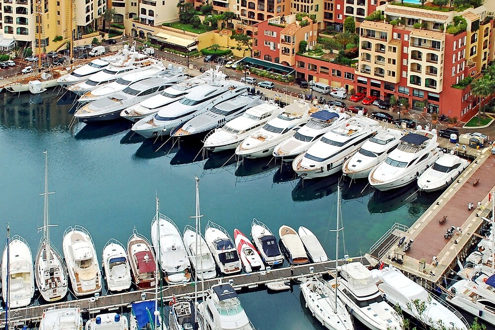 Monaco: a small country with big boats by Arie Koene