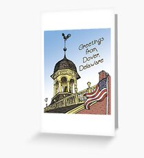 Delaware's Old State House Steeple Greetings Greeting Card