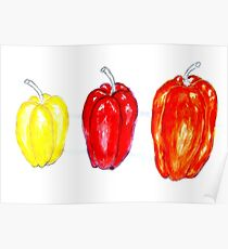 Three Peppers Art 3 Poster