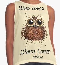 Barista Coffee Owl Contrast Tank