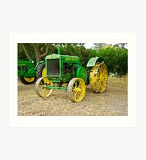 Antique John Deere Farm Tractor I Art Print