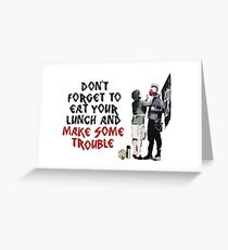 Banksy - Mother and Son Greeting Card