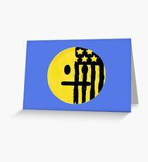 American Beauty/American Psycho Emoji Greeting Card