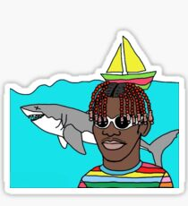 LIL YACHTY / LIL BOAT - HAPPY DRAWING  Sticker