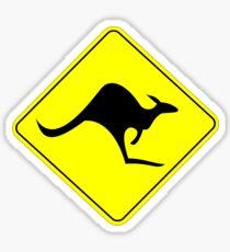 KANGAROO AUSTRALISCHES VERKEHRSZEICHEN Sticker