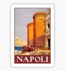 Pegatina Cartel de viaje Vintage Napoli Italia