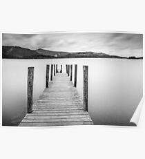 Lake District Jetty Poster