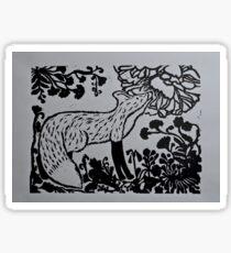 Flowery Fox Sticker