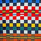 Colours of Africa (20) of a series of African Colours, KENTE of the Ashanti and Ewe in Ghana by Remo Kurka