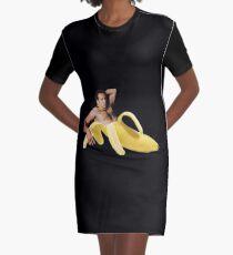 Nicolas Cage In A Banana - Original Yellow Graphic T-Shirt Dress