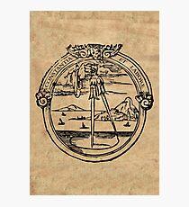 Constantia et Labore -  House of Plantin Printer's Mark Photographic Print