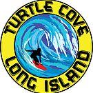 Surfing TURTLE COVE MONTAUK LONG ISLAND NEW YORK Surf Surfboard Waves by MyHandmadeSigns