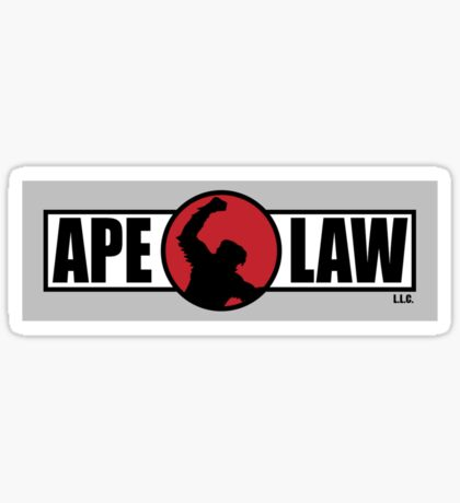 Ape Law - Official Clothing and Stickers Sticker